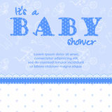 De kaart van de babydouche voor een jongen royalty-vrije illustratie