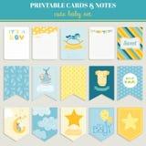 De Kaart van de babyjongen - voor uw viering wordt geplaatst die Stock Foto
