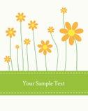 De Kaart van de bloem Stock Foto's
