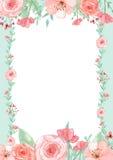 De Kaart van de bloemuitnodiging Stock Afbeeldingen