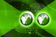 De kaart van de bol en van de wereld Stock Afbeeldingen