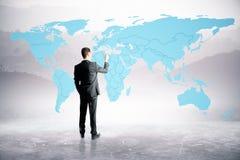 De kaart van de Businesspersontekening Royalty-vrije Stock Afbeelding