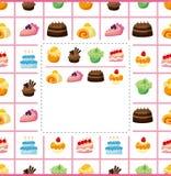De kaart van de cake Royalty-vrije Stock Afbeeldingen