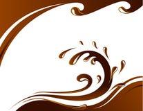 De kaart van de chocolade Stock Afbeeldingen