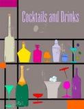 De kaart van de cocktail royalty-vrije illustratie