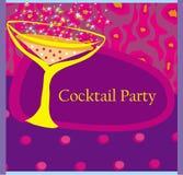 De Kaart van de cocktail partyuitnodiging Stock Foto's