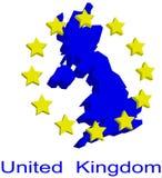 De kaart van de contour van het UK royalty-vrije illustratie