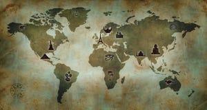 De Kaart van de Cultuur van de wereld Royalty-vrije Stock Foto's