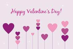 De Kaart van de Dag van de gelukkige Valentijnskaart Stock Afbeeldingen