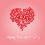 De Kaart van de Dag van de gelukkige Valentijnskaart Royalty-vrije Stock Foto
