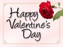 De Kaart van de Dag van de gelukkige Valentijnskaart Royalty-vrije Stock Afbeeldingen