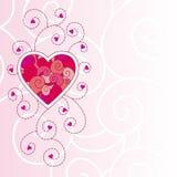 De kaart van de Dag van de valentijnskaart Stock Afbeelding