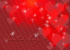 De kaart van de Dag van de valentijnskaart Stock Foto