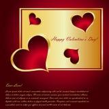 De Kaart van de Dag van de valentijnskaart Royalty-vrije Stock Afbeelding