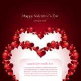 De Kaart van de Dag van de valentijnskaart Stock Fotografie