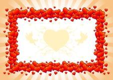 De kaart van de Dag van de valentijnskaart Royalty-vrije Stock Fotografie