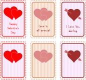 De Kaart van de Dag van de valentijnskaart Royalty-vrije Stock Afbeeldingen