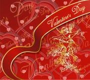 De kaart van de Dag van de valentijnskaart stock foto's