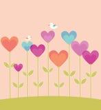 De kaart van de Dag van de valentijnskaart met harten. vector illustratie