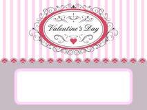 De Kaart van de Dag van de valentijnskaart \ \ \ 's Royalty-vrije Stock Fotografie