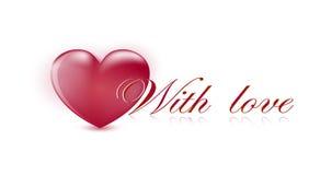 De kaart van de Dag van de valentijnskaart ` s met hart Royalty-vrije Stock Afbeelding