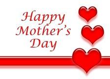 De Kaart van de Dag van moeders Stock Afbeeldingen