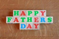 De Kaart van de Dag van vaders - de Foto van de Voorraad royalty-vrije stock afbeelding
