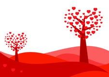 De kaart van de Dag van valentijnskaarten Royalty-vrije Stock Fotografie