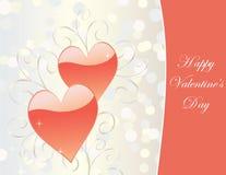 De kaart van de Dag van valentijnskaarten Stock Fotografie