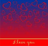 De kaart van de Dag van valentijnskaarten Stock Foto's