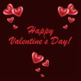 De kaart van de Dag van valentijnskaarten Royalty-vrije Stock Foto