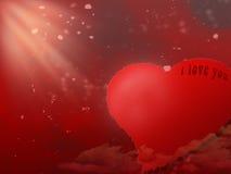 De kaart van de Dag van valentijnskaarten royalty-vrije stock foto's