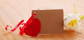 De kaart van de Dag van valentijnskaarten Stock Afbeeldingen