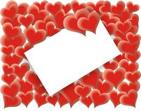 De kaart van de Dag van valentijnskaarten - het houden van harten - vector Royalty-vrije Stock Foto's