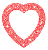 De kaart van de Dag van Valentin met hart Royalty-vrije Stock Afbeeldingen