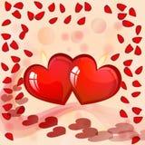 De kaart van de Dag van Valentin `s Royalty-vrije Stock Afbeeldingen