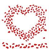 De kaart van de Dag van Valentin `s met hart Stock Afbeeldingen