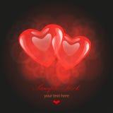 De Kaart van de Dag van Valentin `s met Harten vector illustratie