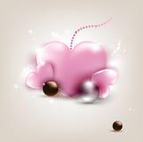 De kaart van de Dag van Valentin ` s met harten Royalty-vrije Stock Afbeelding