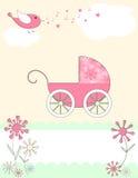 De kaart van de de aankomstaankondiging van de baby Royalty-vrije Stock Afbeelding