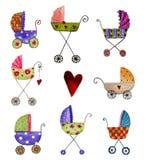 De kaart van de de aankomstaankondiging van de baby Stock Fotografie