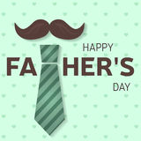 De kaart van de de daggroet van de gelukkige vader Gelukkige Vaderdagaffiche Vector Stock Fotografie