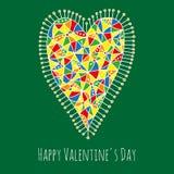 De kaart van de de daggroet van de gelukkige valentijnskaart Royalty-vrije Stock Afbeelding