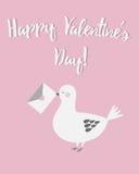 De kaart van de de daggroet van de gelukkige valentijnskaart Stock Afbeeldingen