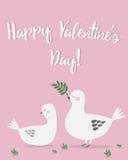 De kaart van de de daggroet van de gelukkige valentijnskaart Stock Foto