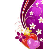 De kaart van de de daggroet van de valentijnskaart Royalty-vrije Stock Fotografie