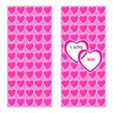 De kaart van de de daggroet van de valentijnskaart Stock Afbeeldingen