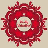 De kaart van de de daggroet van de valentijnskaart Stock Foto