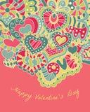 De kaart van de de daggroet van de valentijnskaart Royalty-vrije Stock Afbeelding