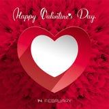 De kaart van de de daggroet van de valentijnskaart `s Stock Foto's